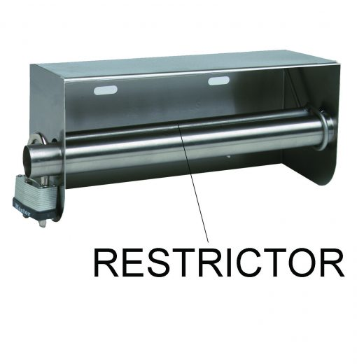 Restrictor for Toilet Paper Rolls