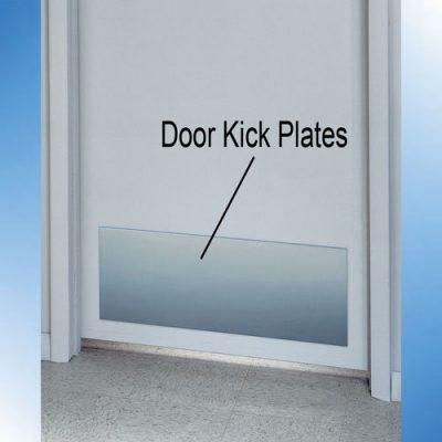 Stainless steel kick plates
