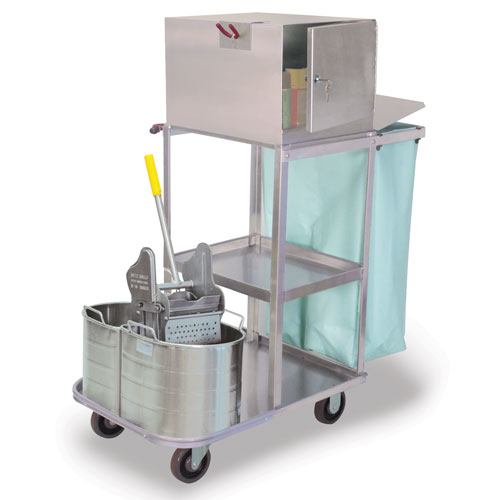 Verse-Utility Cart with Double Tanks & Wringer